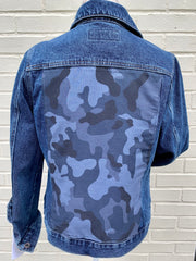 Denim Jacket w Blue Camo
