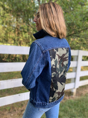 Denim Jacket w Green Camo (DJ 04)