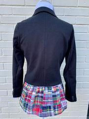 Black Knit with Madras Giddy Up Jacket