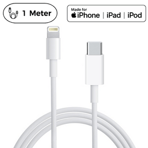 Originalt Apple MFi USB C Kabel | USB-C 3.1 Lightning Kabel til iPhone/iPad - 1 Meter