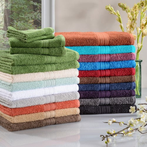 Eco Friendly 2 Bath, 2 Hand, 2 Face Cotton Towel Set