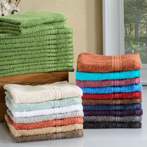 Eco Friendly 12-Piece Face Towel Set
