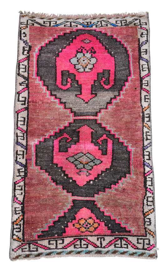 "Vintage Turkish Baby Rug-#17-1'6""x2'11"""
