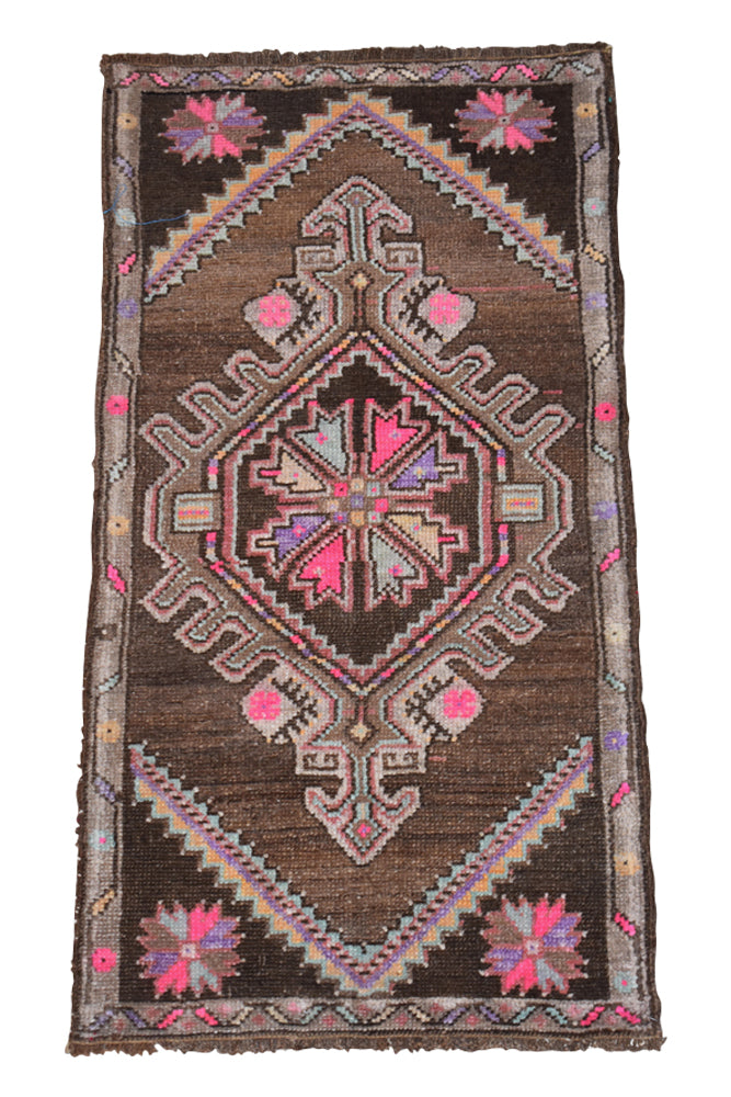 "Vintage Turkish Baby Rug-#21-1'8""x3'4"""