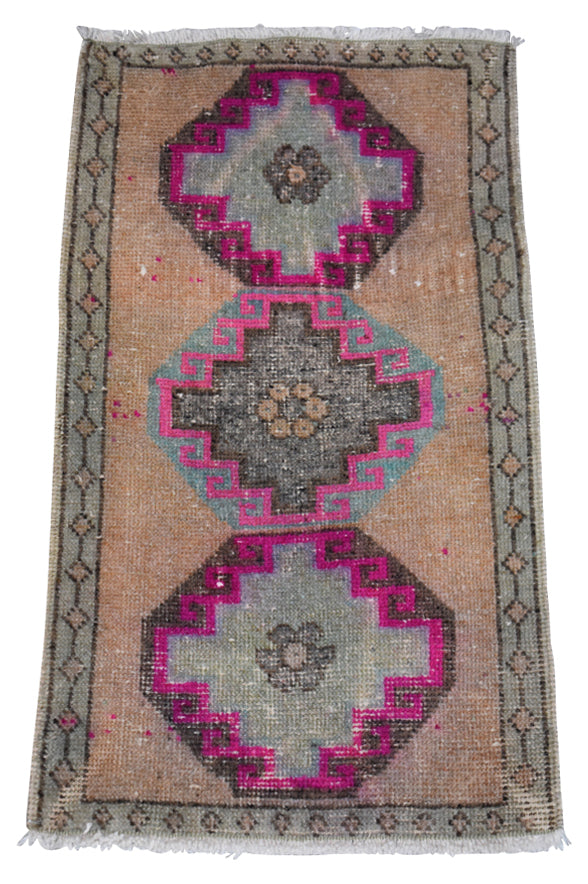 "Vintage Turkish Baby Rug-#4-1'10""x3'5"""