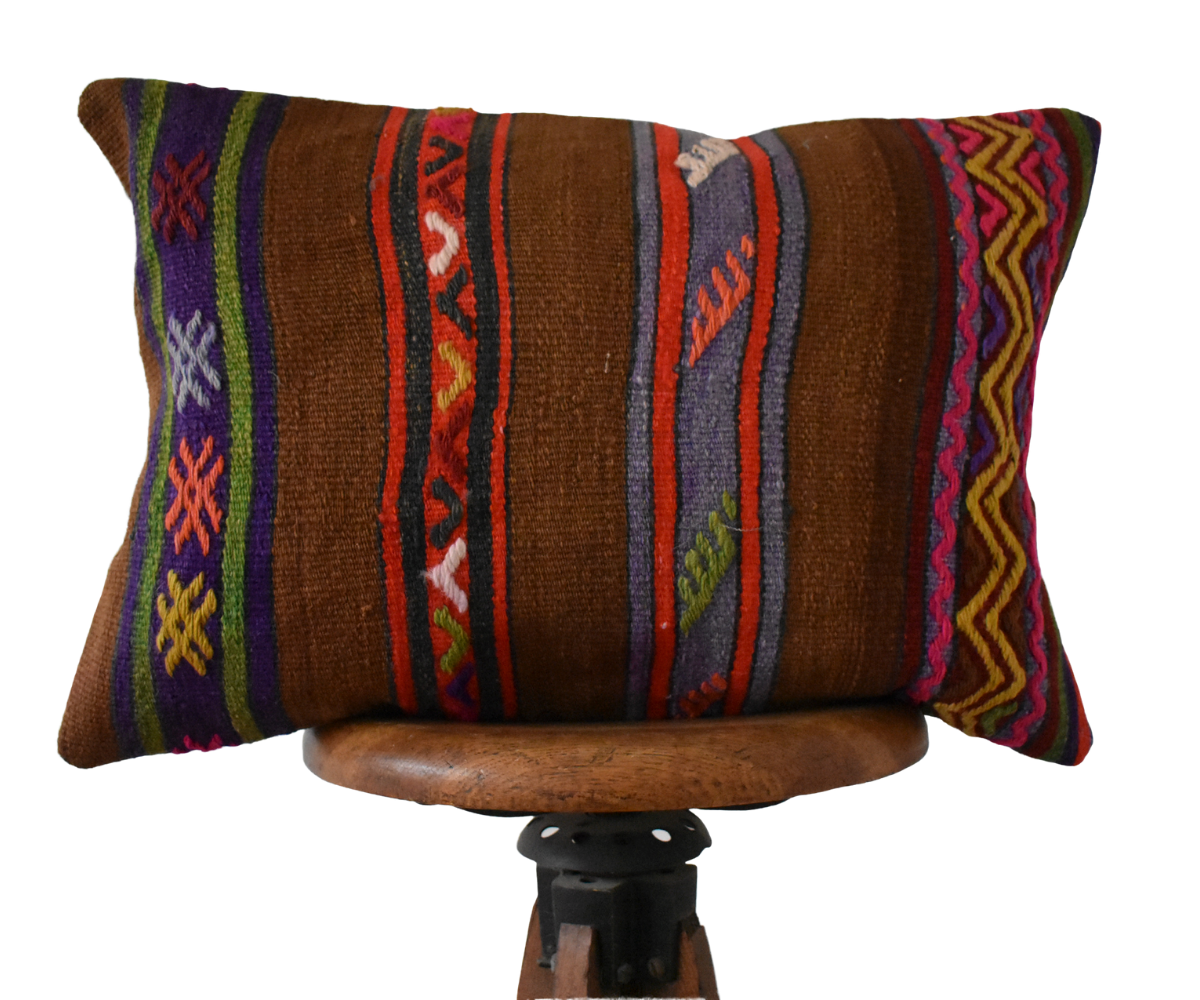 Turkish Kilim Pillow Lumbar #1 Family S