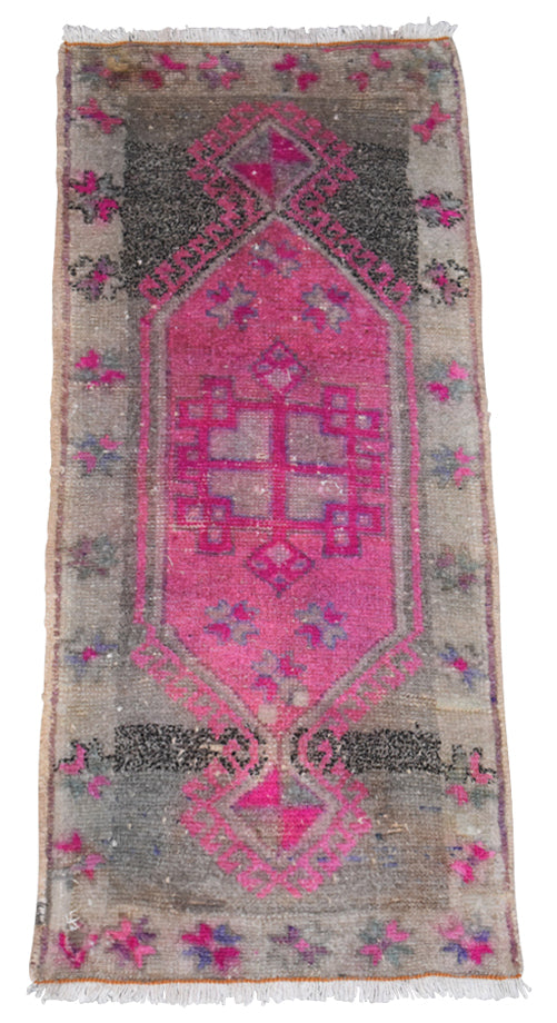 "Vintage Turkish Baby Rug-#42-1'6""x3'5"""