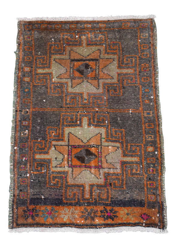 "Vintage Turkish Baby Rug-#43-1'10""x2'9"""