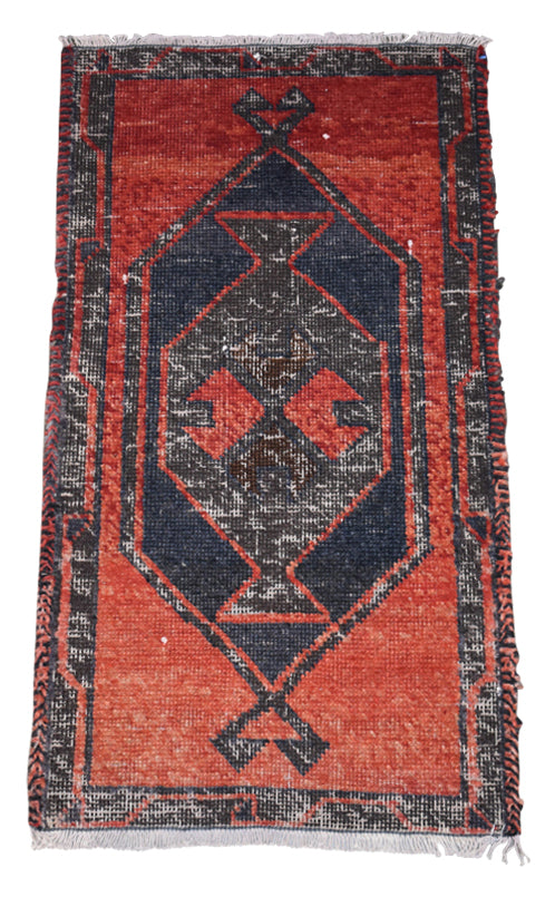 "Vintage Turkish Baby Rug-#12-1'9""x3'3"""