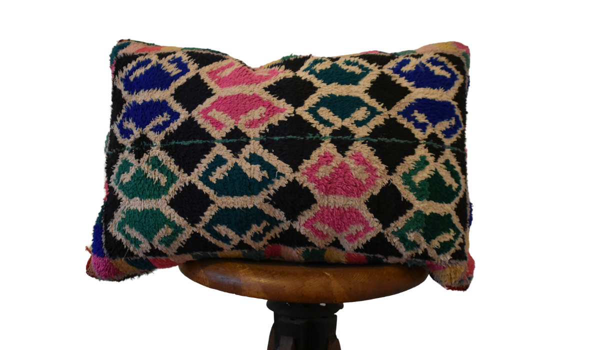 "Antique Moroccan Pillow-16x24""-D"