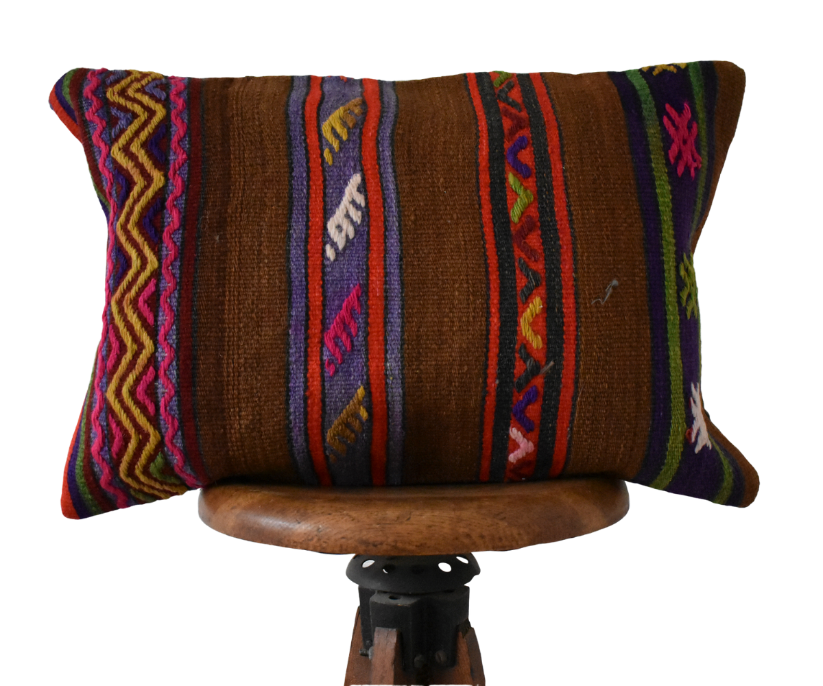 Turkish Kilim Pillow Lumbar #2 Family S
