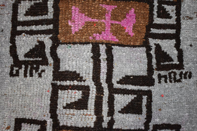 "Vintage Turkish Baby Rug-#46-1'9""x2'6"""