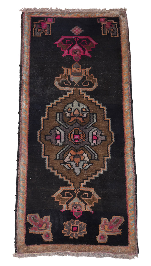 "Vintage Turkish Baby Rug-#47-1'7""x3'8"""