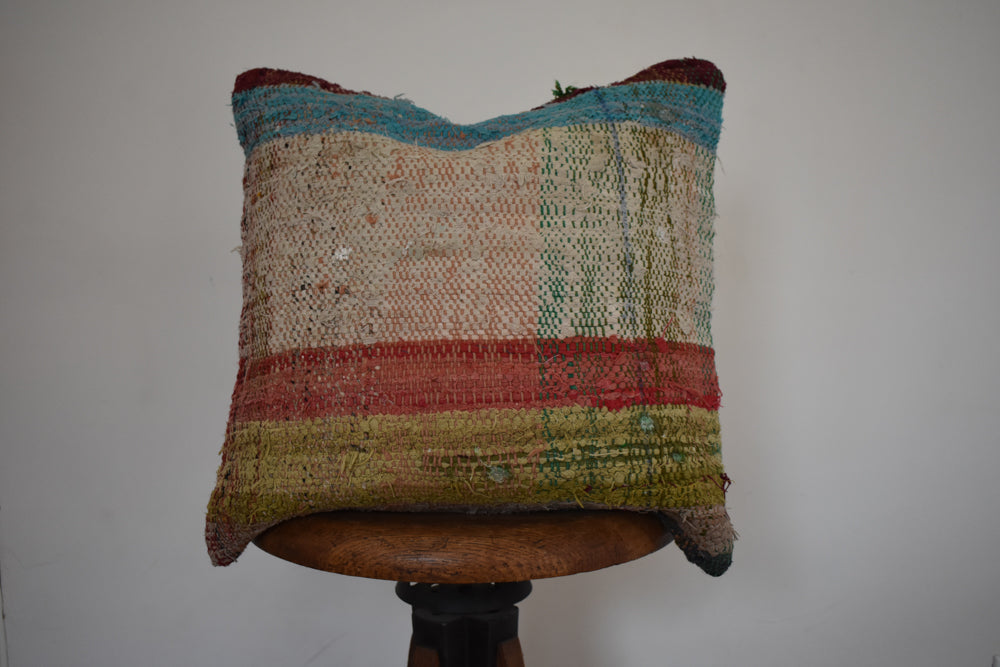"Turkish Kilim Pillow 16x16"" L"