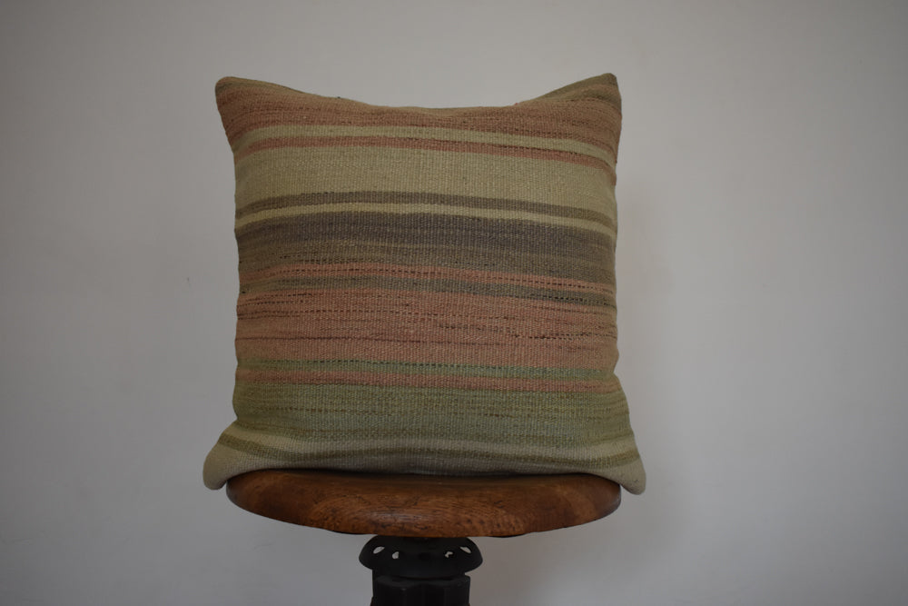 "Turkish Kilim Pillow 16x16"" M"