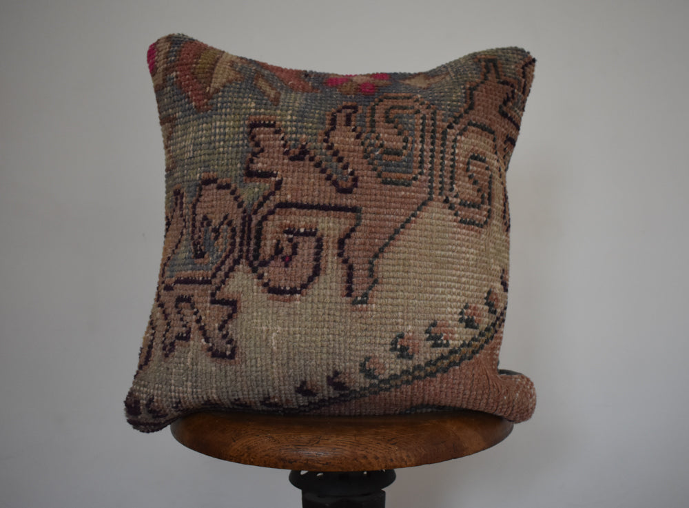 "Turkish Kilim Pillow 16x16"" P"
