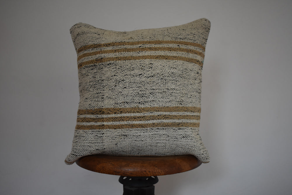 "Turkish Kilim Pillow 16x16"" W"