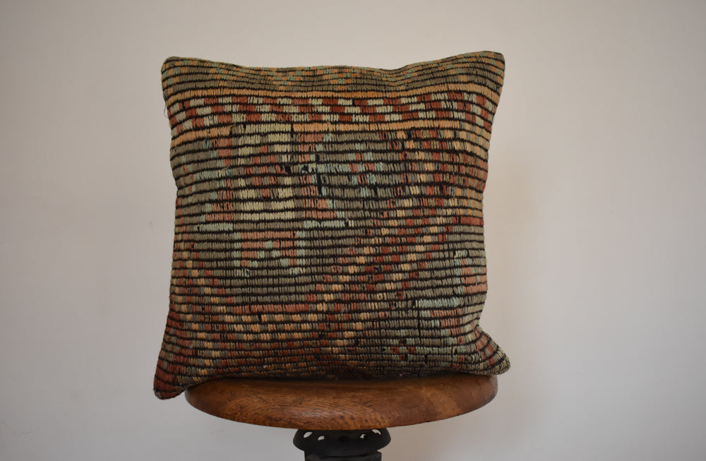 "Turkish Kilim Pillow 16x16"" Z"