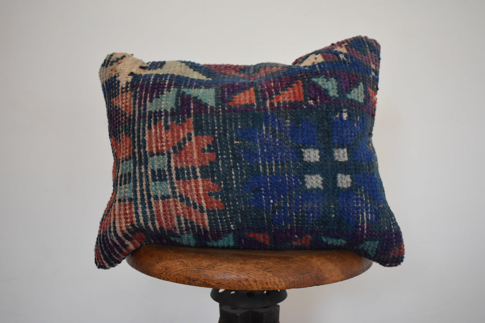 "Turkish Kilim Pillow 16x16"" CC"