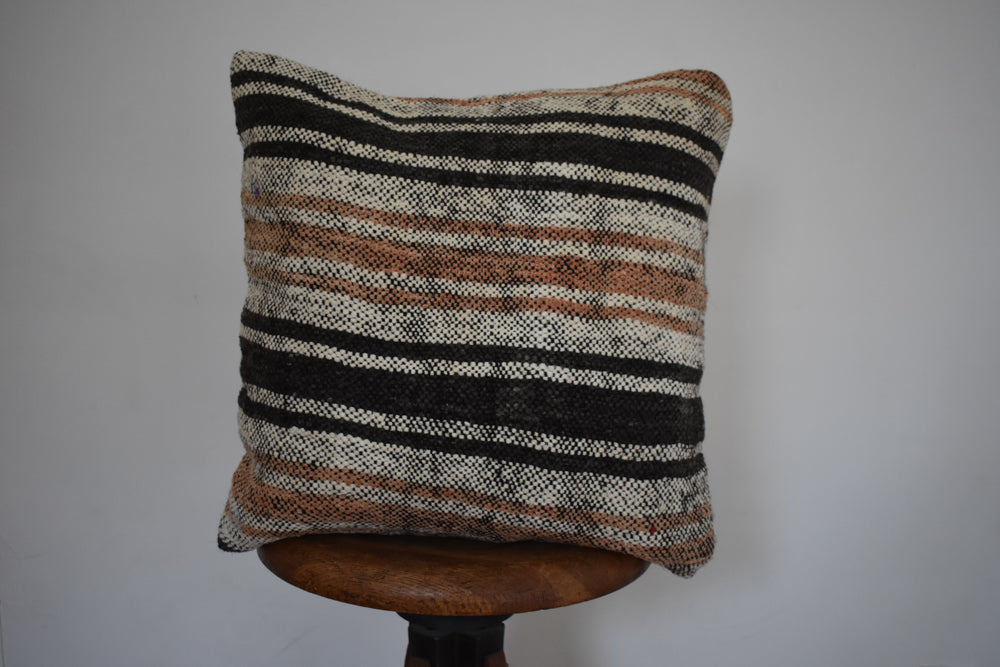 "Turkish Kilim Pillow 18x18"" A"
