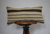 "Turkish Kilim Lumbar Pillow 12x24"" O"