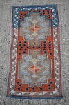 "Vintage Turkish Baby Rug-#37-1'4""x2'5"""