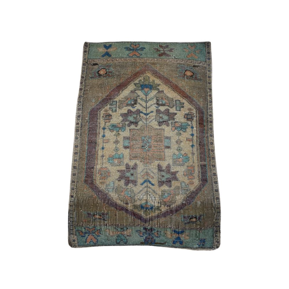"Vintage Turkish Baby Rug-#59-1'7""x2'6"""