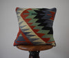 "Turkish Kilim Pillow 16x16"" #17"