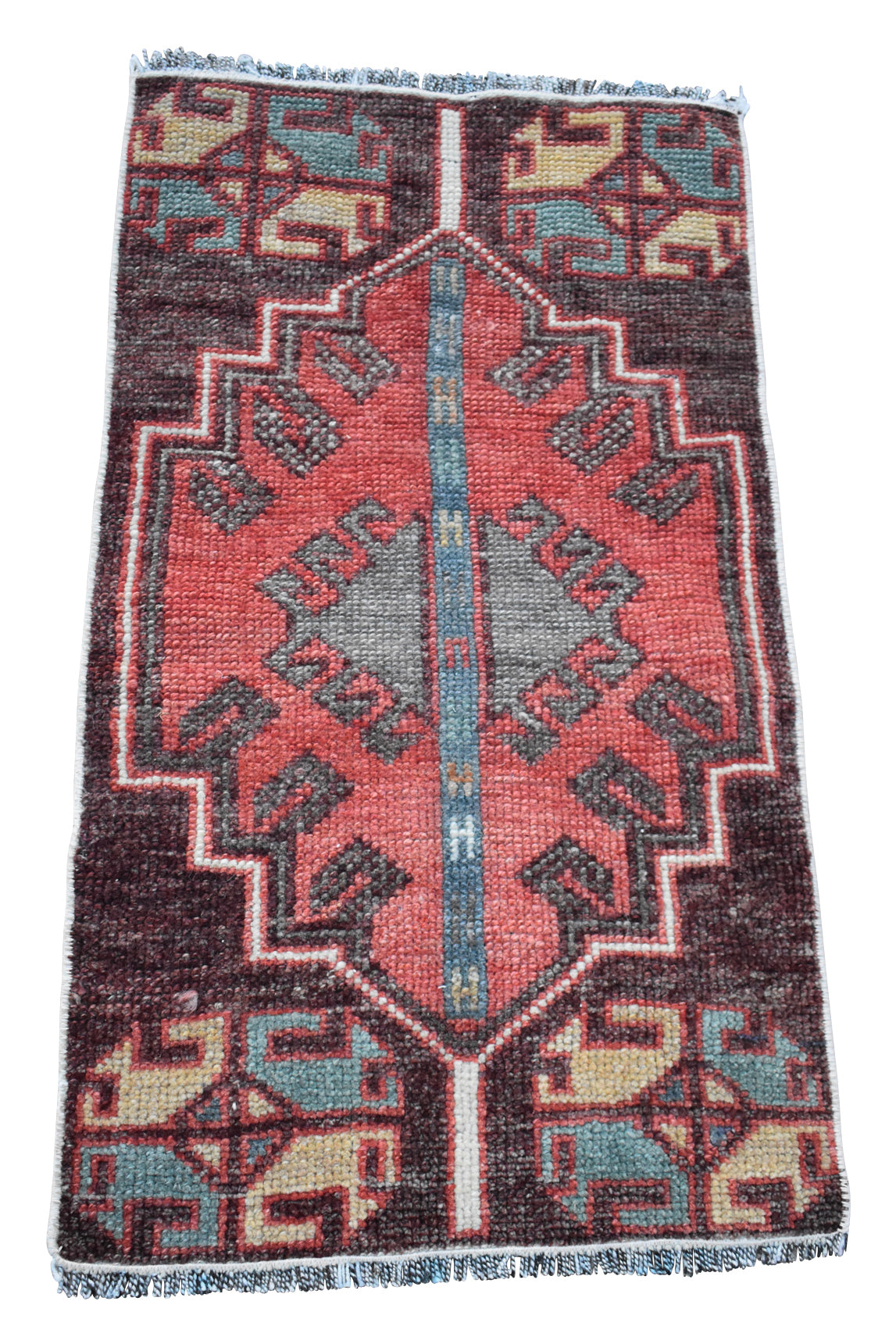 "Vintage Turkish Baby Rug-#12-1'5""x2'8"""