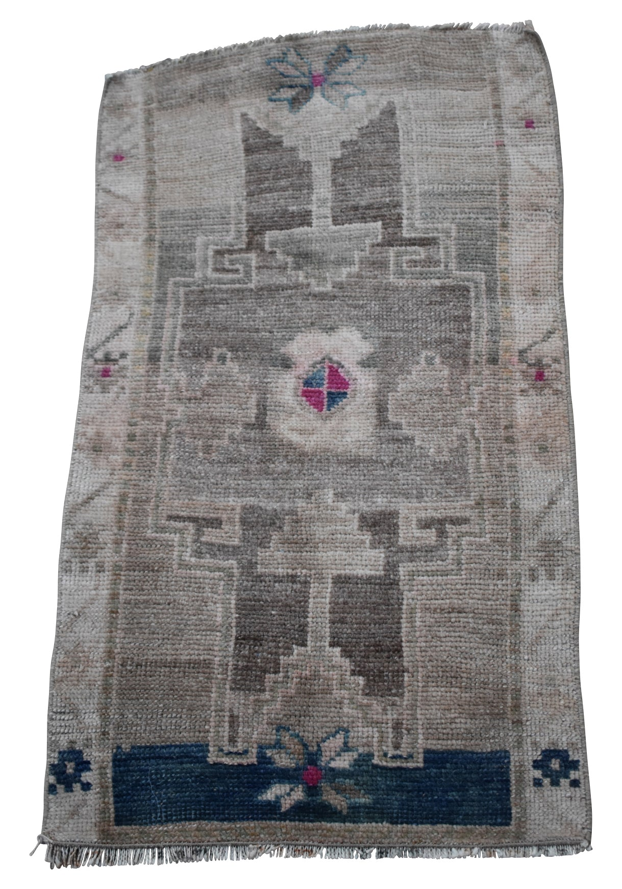 "Vintage Turkish Baby Rug-#13-1'6""x2'8"""
