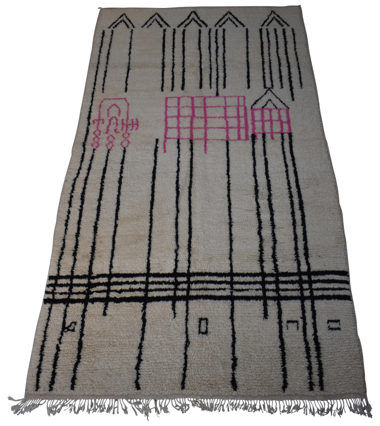 "New Moroccan Azilal Rug-Boston-4'11""x9'4"""