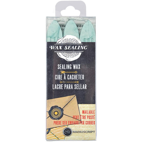 Sealing Wax Sticks W/Wick Aqua / 3 Barras de Lacre Aqua