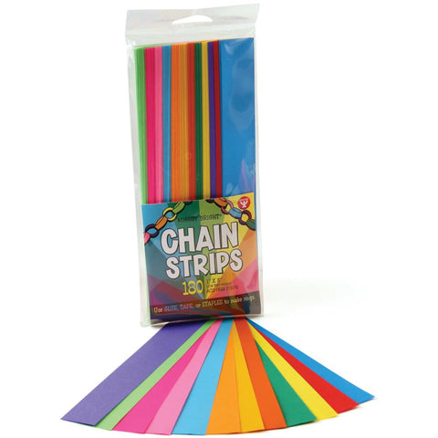 Chain Strips Brights / Tiras de papel colores Brillantes