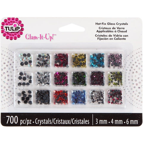 Glam-It-Up! Hot-Fix Glass Crystals / Cuentas de Vidrio con Pegamento de Fijación en Caliente - Hobbees - 1