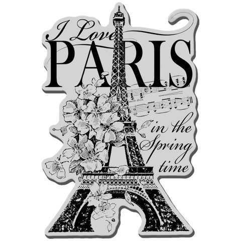 Cling Stamp I Love Paris  / Sellos de Paris - Hobbees