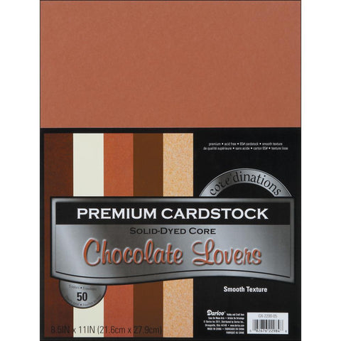 Chocolate Lovers Cardstock  / Block de Cartulinas Tonos Cafes 8.5 x 11