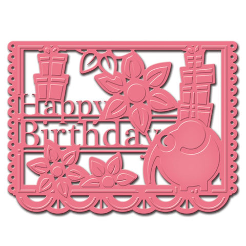 Celebra'tions Dies Happy Birthday Die / Suaje de Papel Picado Happy Birthday - Hobbees
