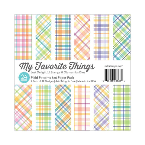 Block de Papel Cuadriculado / Plaid Patterns Paper Pack - Hobbees