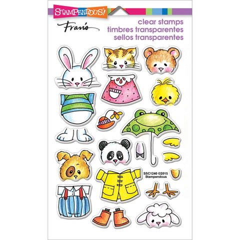Clear Stamps Spring Short Stack / Sellos de Polímero Animales - Hobbees