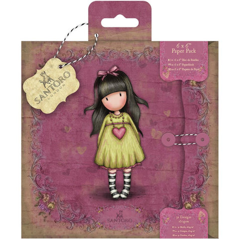 Gorjuss Paper Pack Heartfelt / Block de Papel Gorjuss 6x6