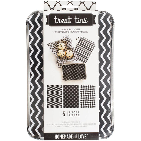 Black & White Food Treat Tins / Charola Para Comida