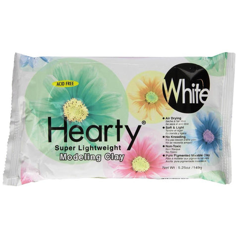 Hearty Super Lightweight Air-Dry Clay White / Arcilla Ligera Secado al Aire