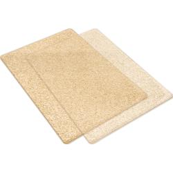 Big Shot Cutting Pads Clear W/Gold Glitter / Acrílicos Big Shot Color Oro con Brillitos