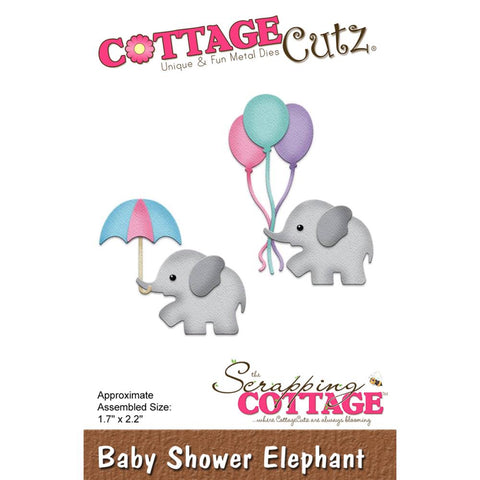 Baby Shower Elephant Die / Suaje de Elefantes para Baby Shower