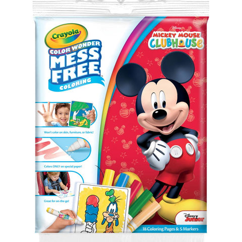 Color Wonder Mickey Mouse Clubhouse Markers and Coloring Book / Libro para Colorear con Plumones de Mickey Mouse - Hobbees