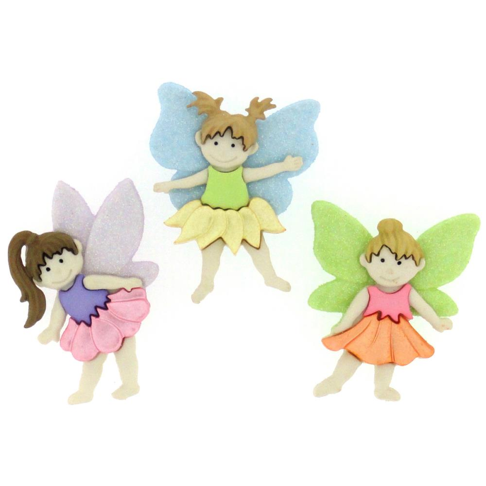 Flower Fairies Embellishments / Adornos de Hadas
