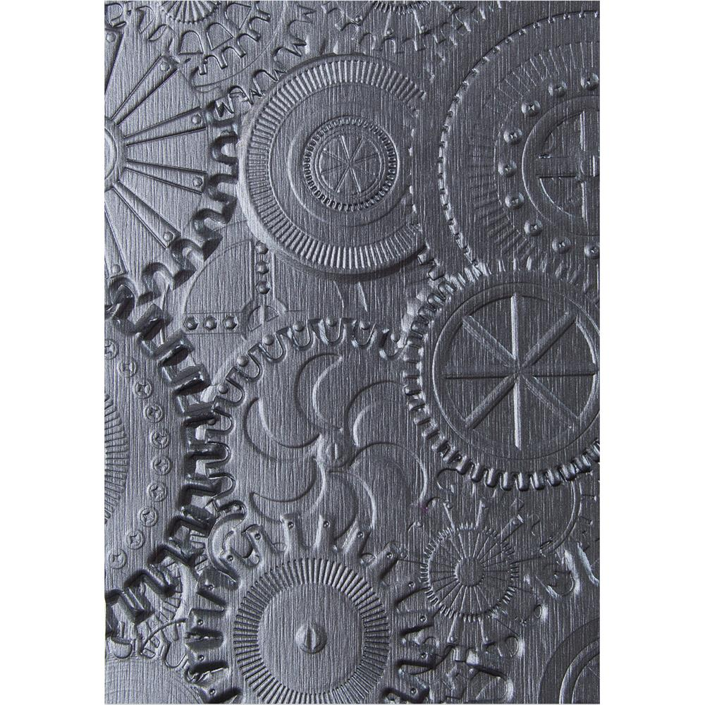 Tim Holtz 3D Embossing Folder Mechanics / Folder de Grabado Engranajes