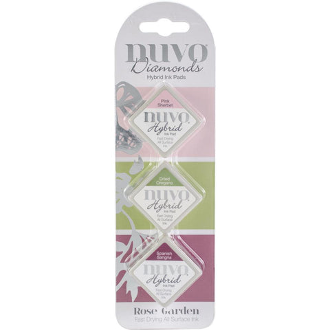 Diamond Hybrid Ink Pads Rose Garden / Set de Tintas para Sellos - Hobbees