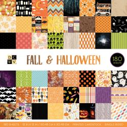 "Cardstock Stack Fall & Halloween 12"" / Block de Cartulina de Halloween 180 Hojas"