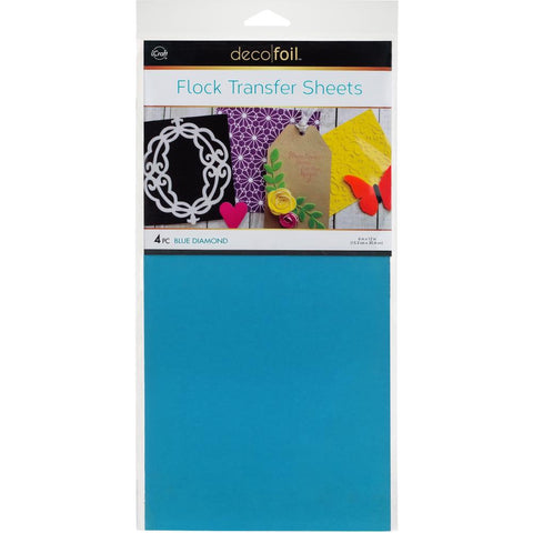 Flock Transfer Sheets Blue Diamond / Papel Transfer de Terciopelo Azul